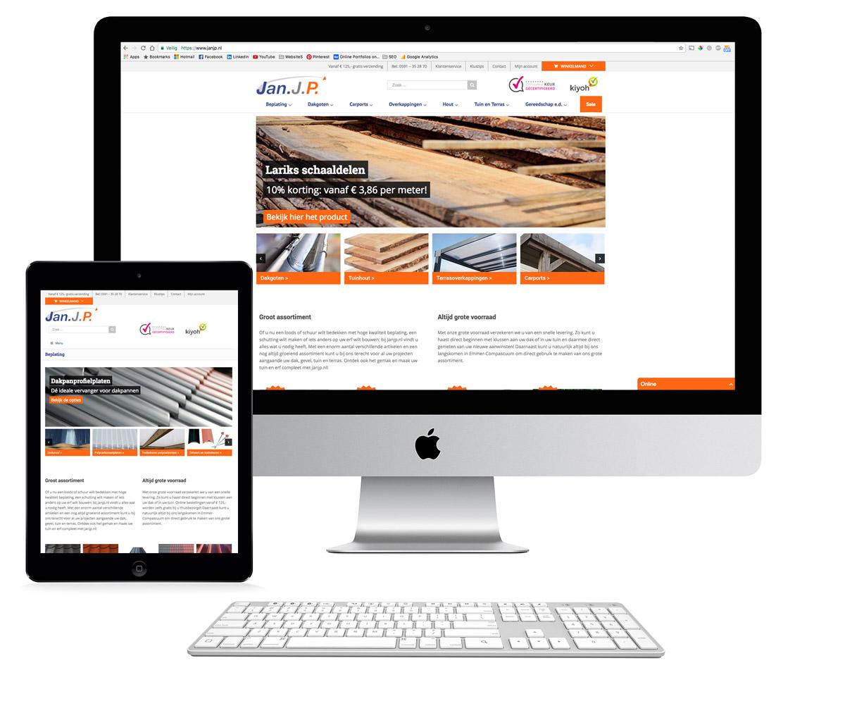 Janjp webshop en online marketing