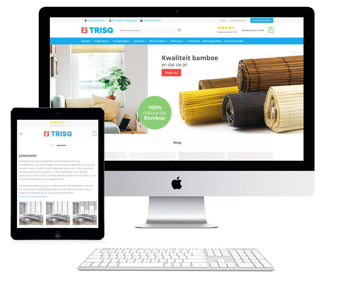 Trisq webshop en online marketing
