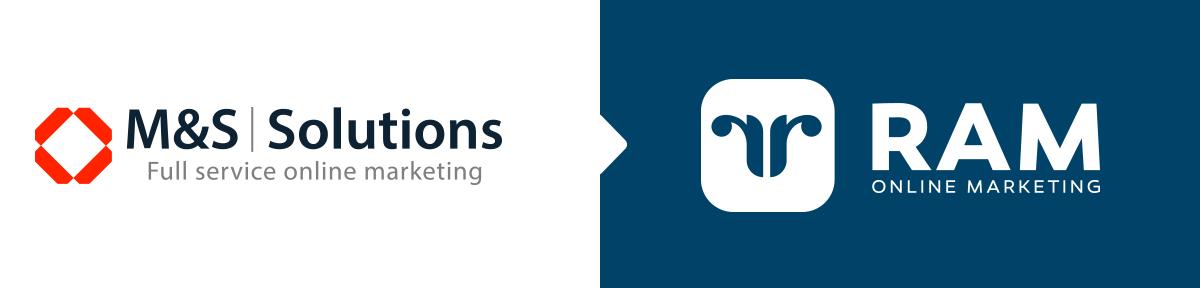 Huisstijlen M&S Solutions en RAM online Marketing