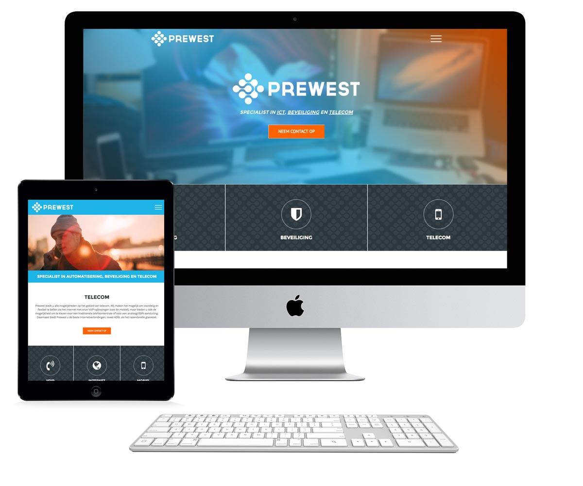 nieuwe website prewest