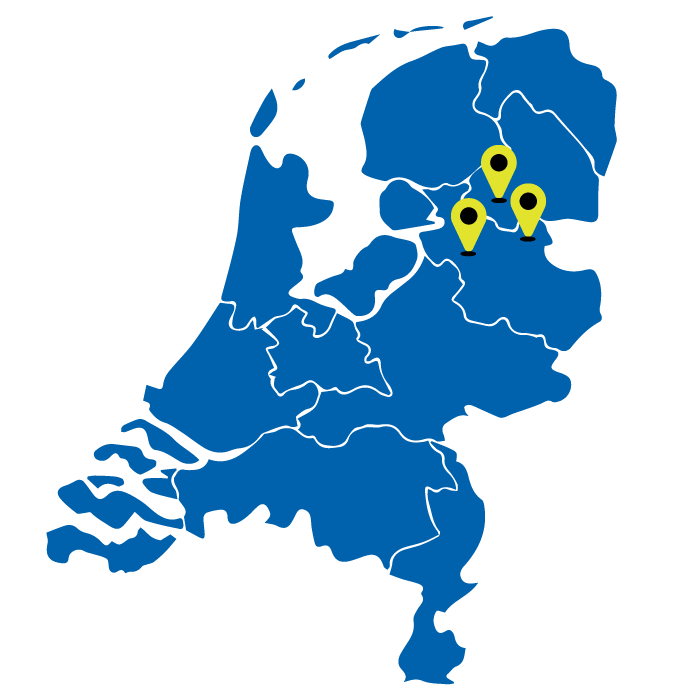 kaart van nederland met targets