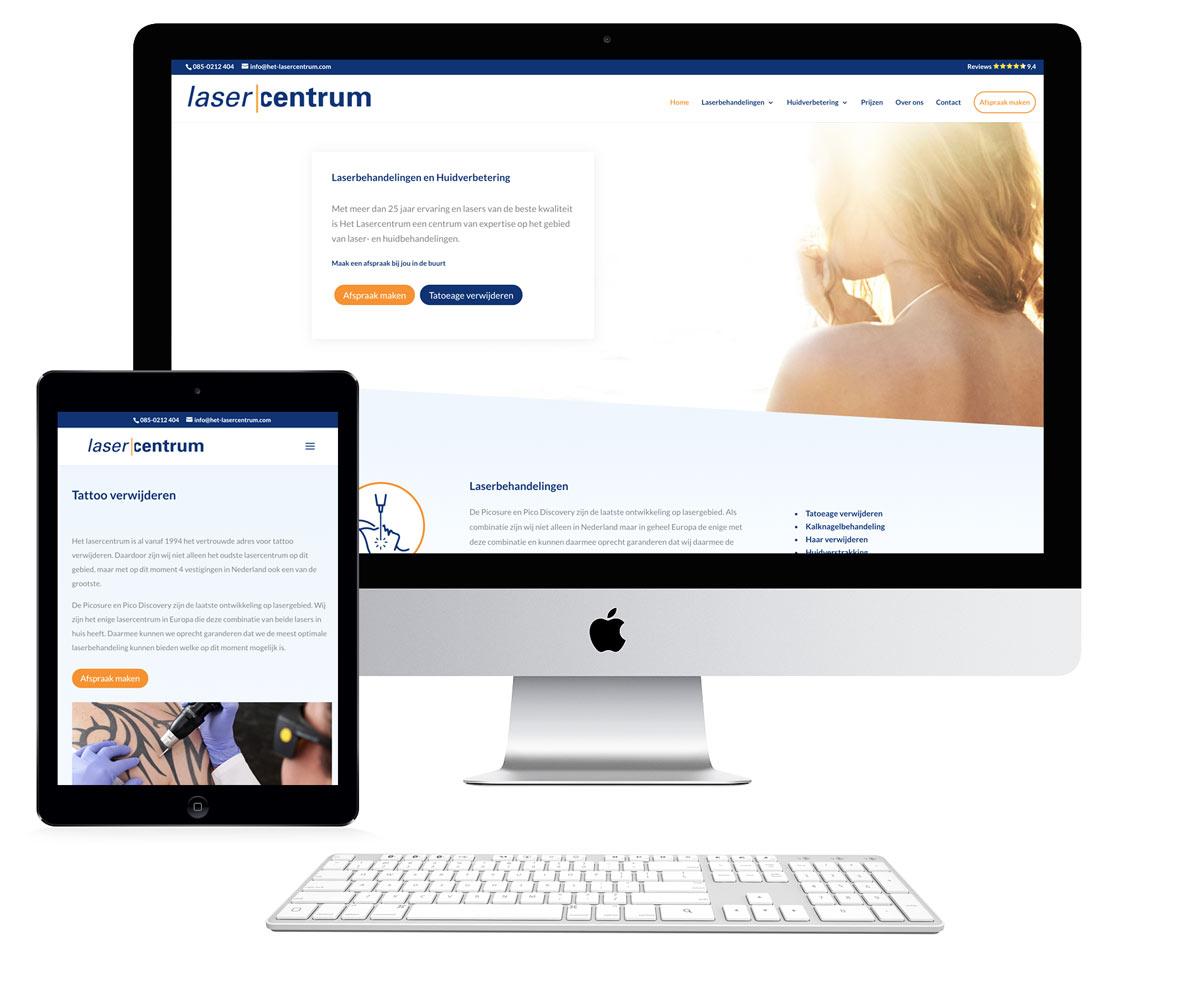 website en online marketing voor lasercentrum
