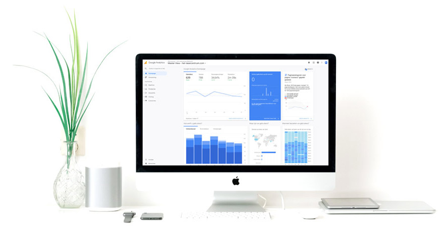 Google analytics op iMac scherm