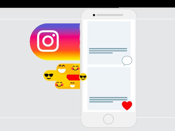 telefoon met instagram adverteren voorbeeld