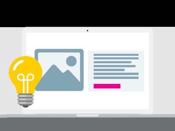 laptop met webdesign voorbeeld