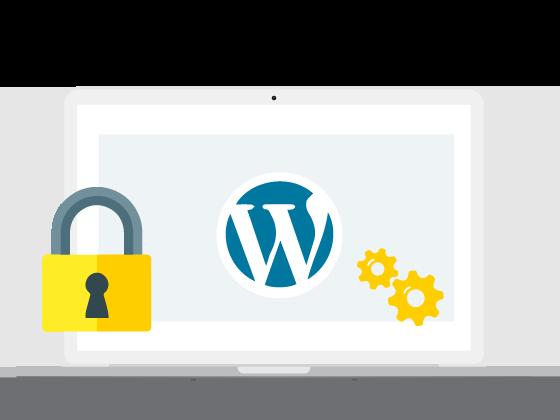 laptop met wordpress voorbeeld