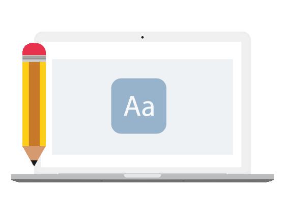 laptop met copywriting SEO voorbeeld