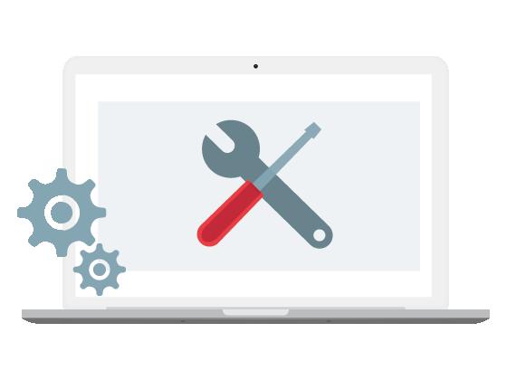 laptop met technische SEO voorbeeld