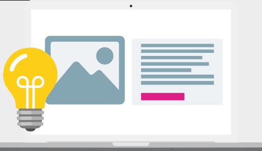 Webdesign voorbeeld op laptop